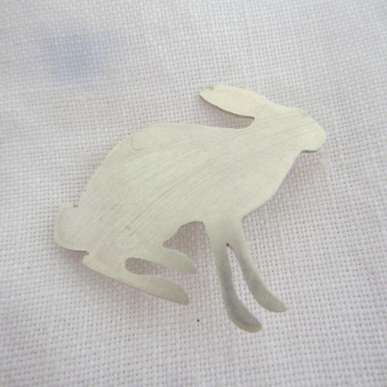 silver Arctic Hare Brooch