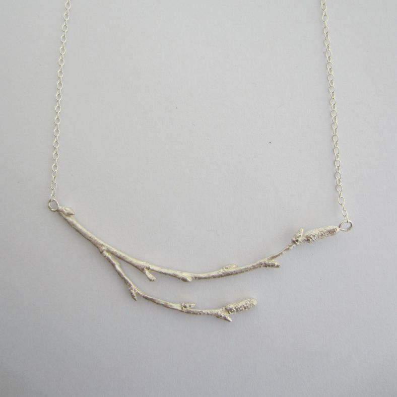 Silver Arctic Twig necklace