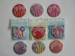 Textile handbag mirror  - Anne Crowther