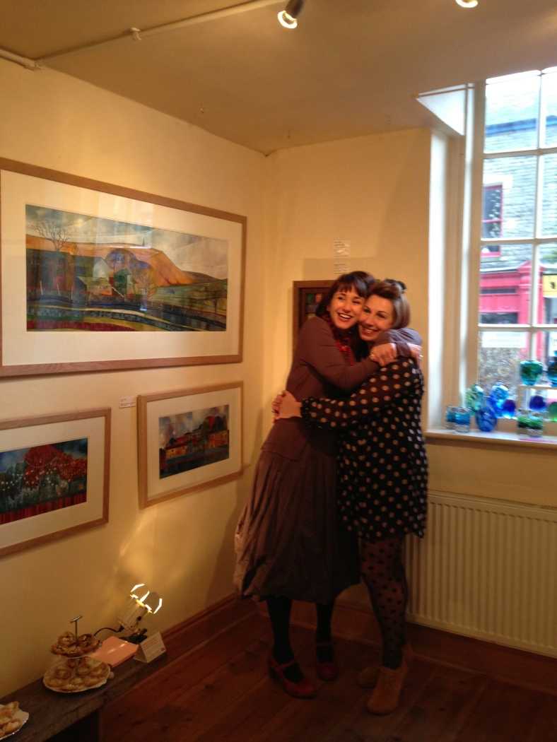 Just time for a quick hug before I opened the Heart Gallery door!