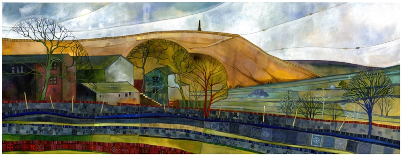 Stoodley Pike painting by Kate Lycett, limited prints still available at Heart Gallery