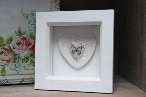 Framed porcelain heart - Amanda Mercer