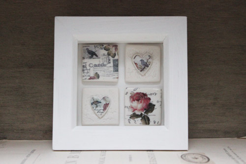 Framed porcelain tiles - Amanda Mercer