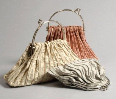 Silk Bags and scarves by Clare Webster