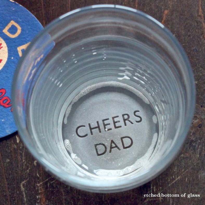 Father's Day glass bottom