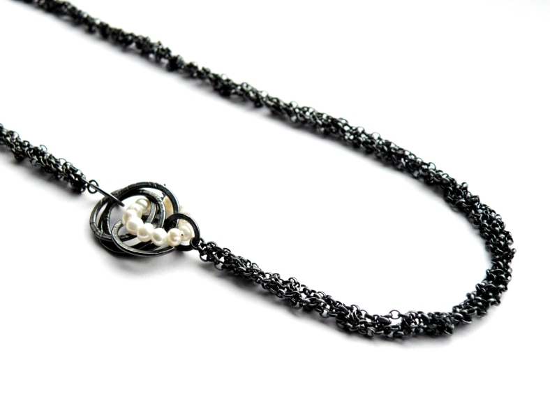 A-Symmetric Potato Pearl necklace