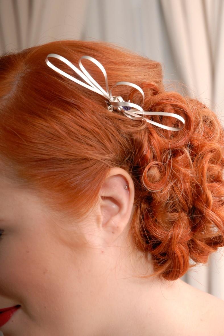 Allegra silver hair clip