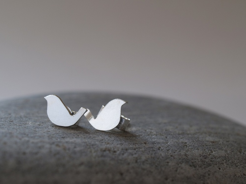 Teeny bird studs