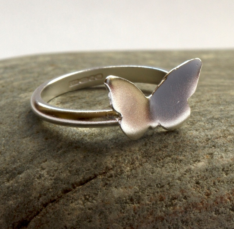 Butterfly and Bluebell ring