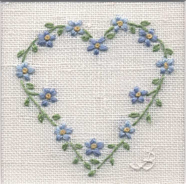 Embroidery heart gallery
