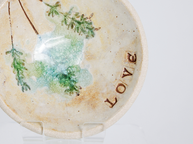 Love plate - Cat Brown