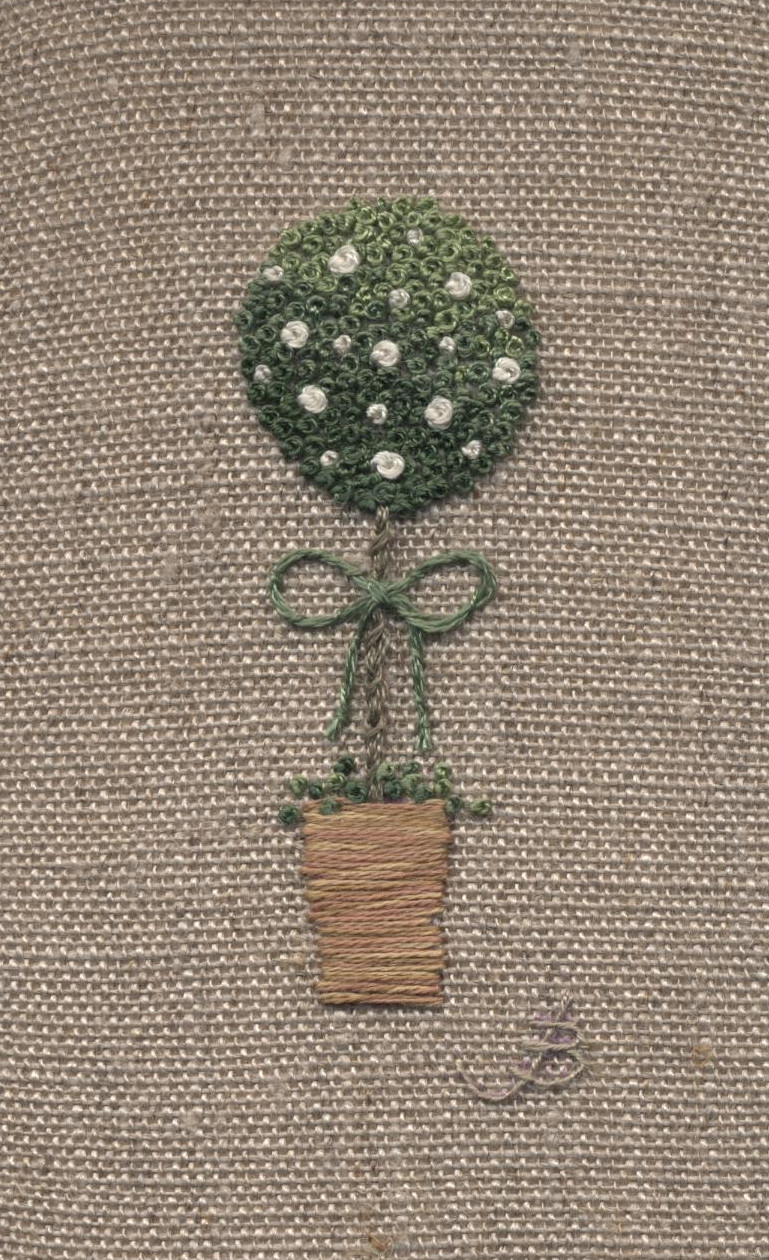 Bush -  hand embroidery