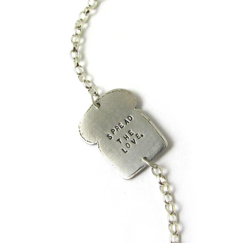 Toast silver bracelet