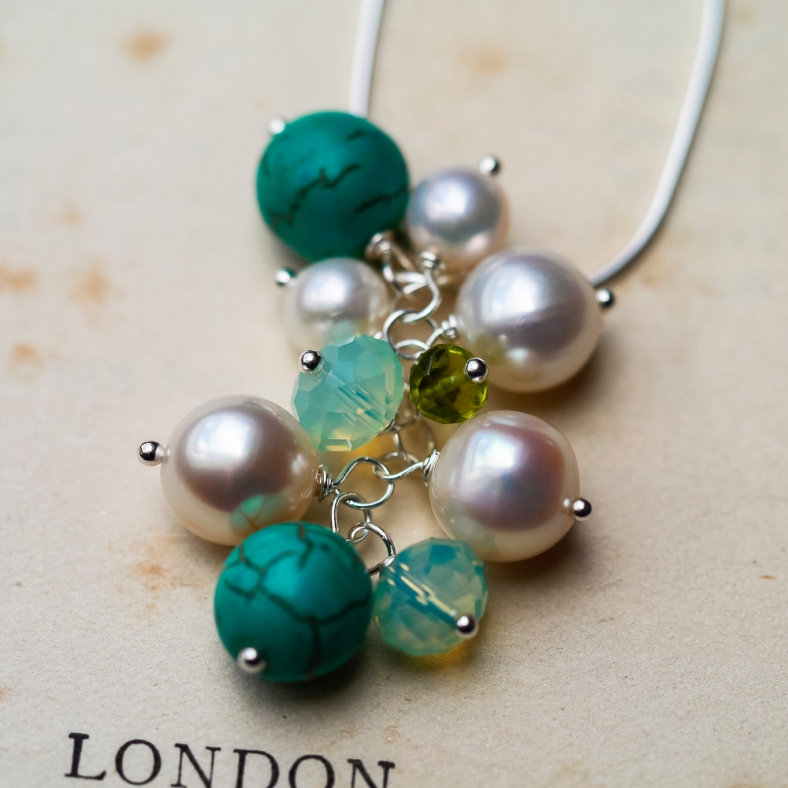 Cluster necklace can be colour matched to your scheme