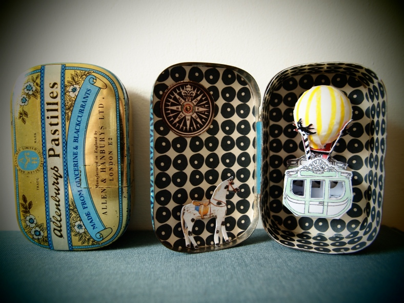 Vintage tins used Peter and Kate's creations