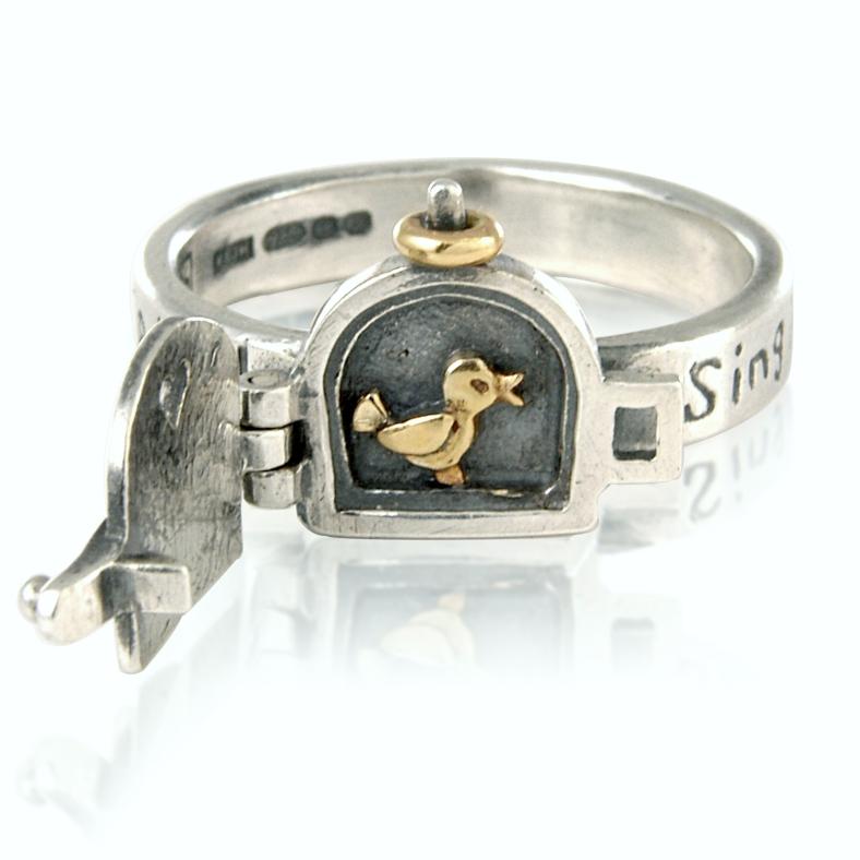 Singing Bird ring (open shot) £