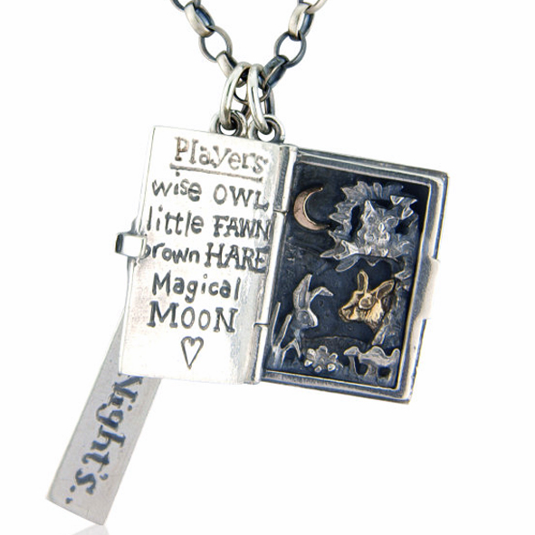 Midsummer's Night necklace (open shot) £