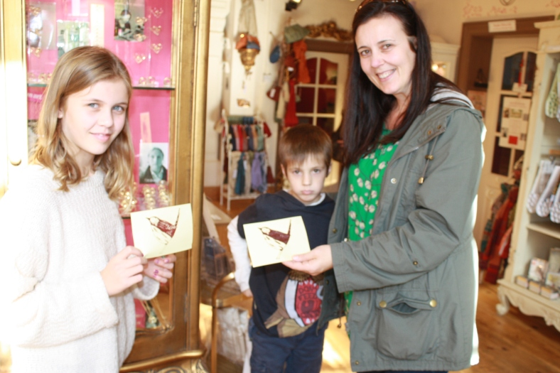 Lots of customers left Heart Gallery with a birdie card