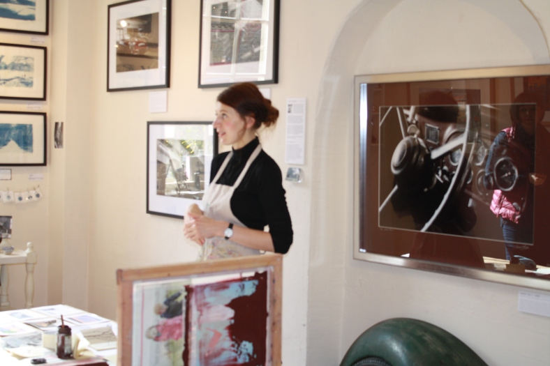 Julia Ogden in our Picture Gallery chatting about her work