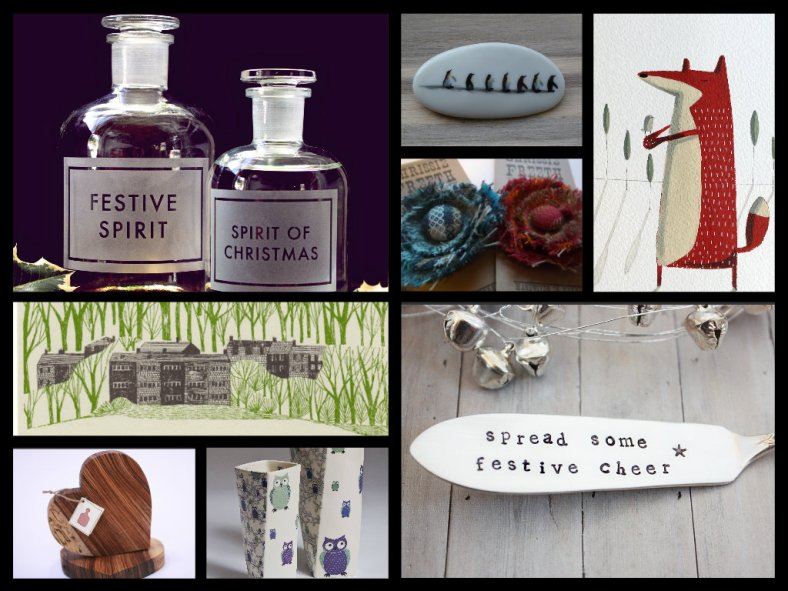 A selection of festive gifts from some of our UK based designers and makers