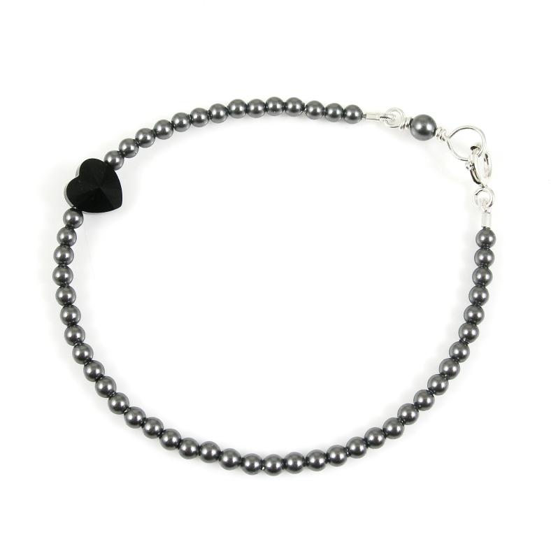New little crystal heart friendship bracelets