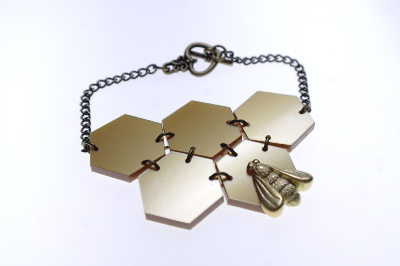 Honeycomb and Bee Armour necklace