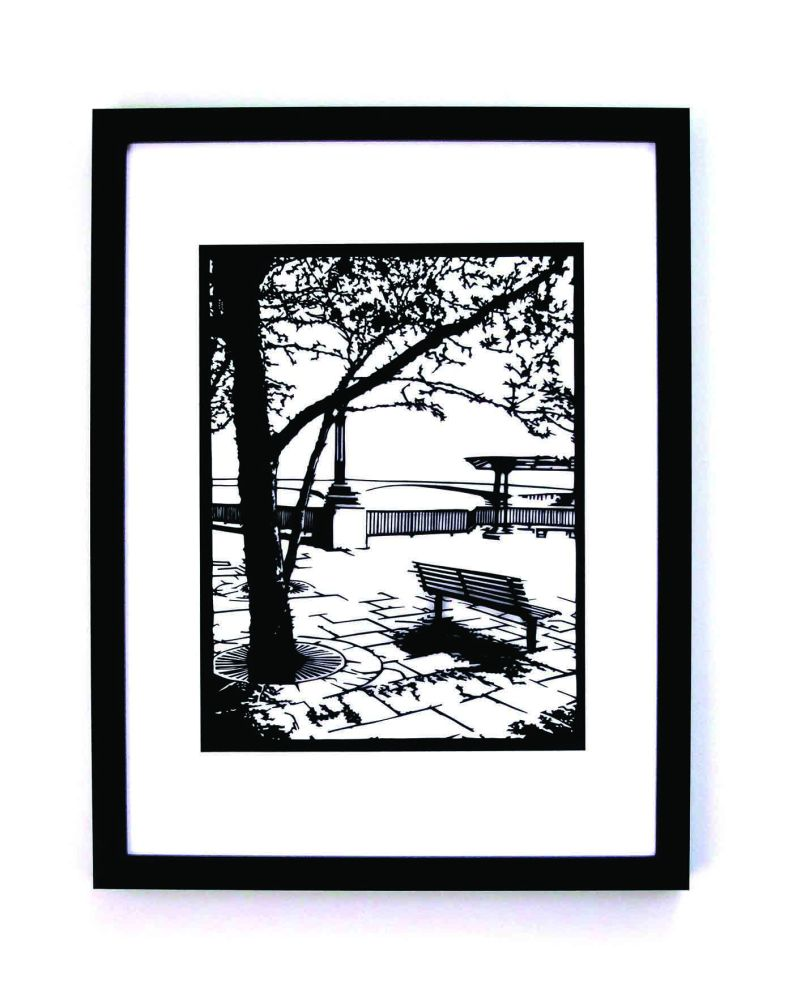 Along The Thames framed papercut