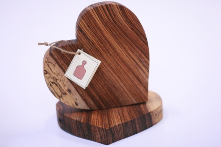 Gorgeous wooden heart boards