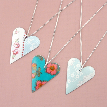 Various heart necklaces