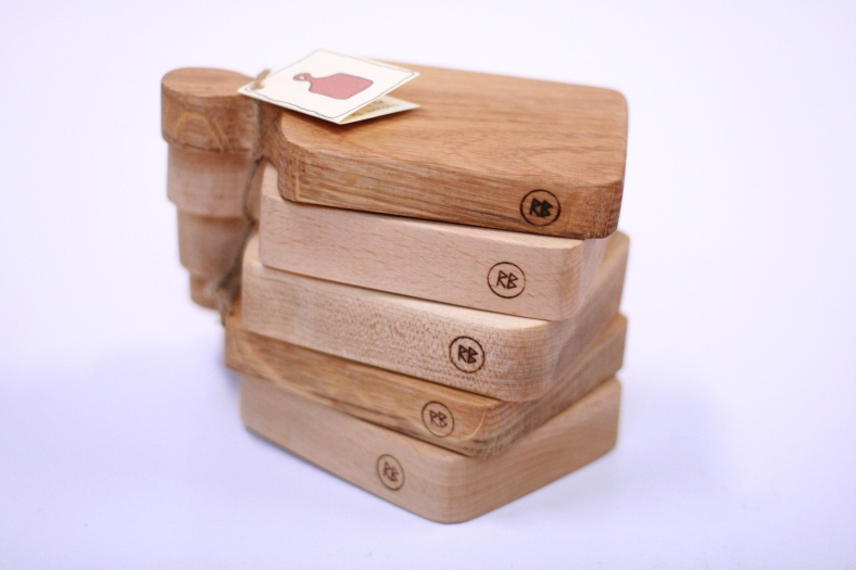 Stack of mini boards in various woods