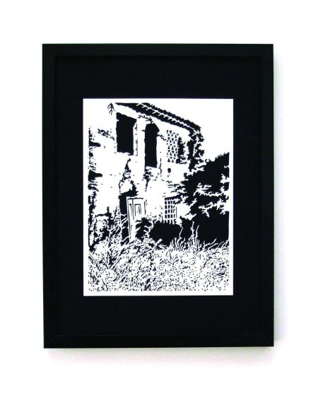 Ruined Farmhouse, Italy framed papercut