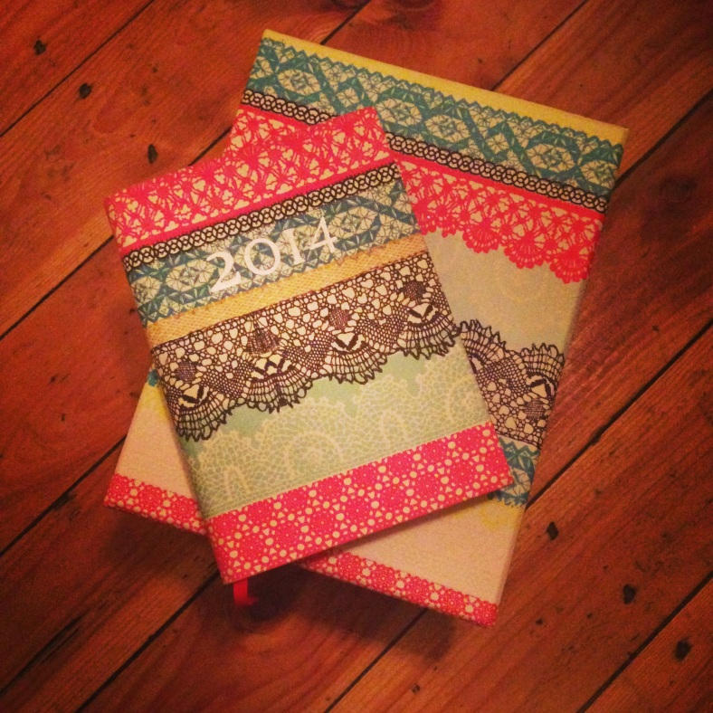 Fabulous box of paper and pens and a gorgeous diary too from Becky x
