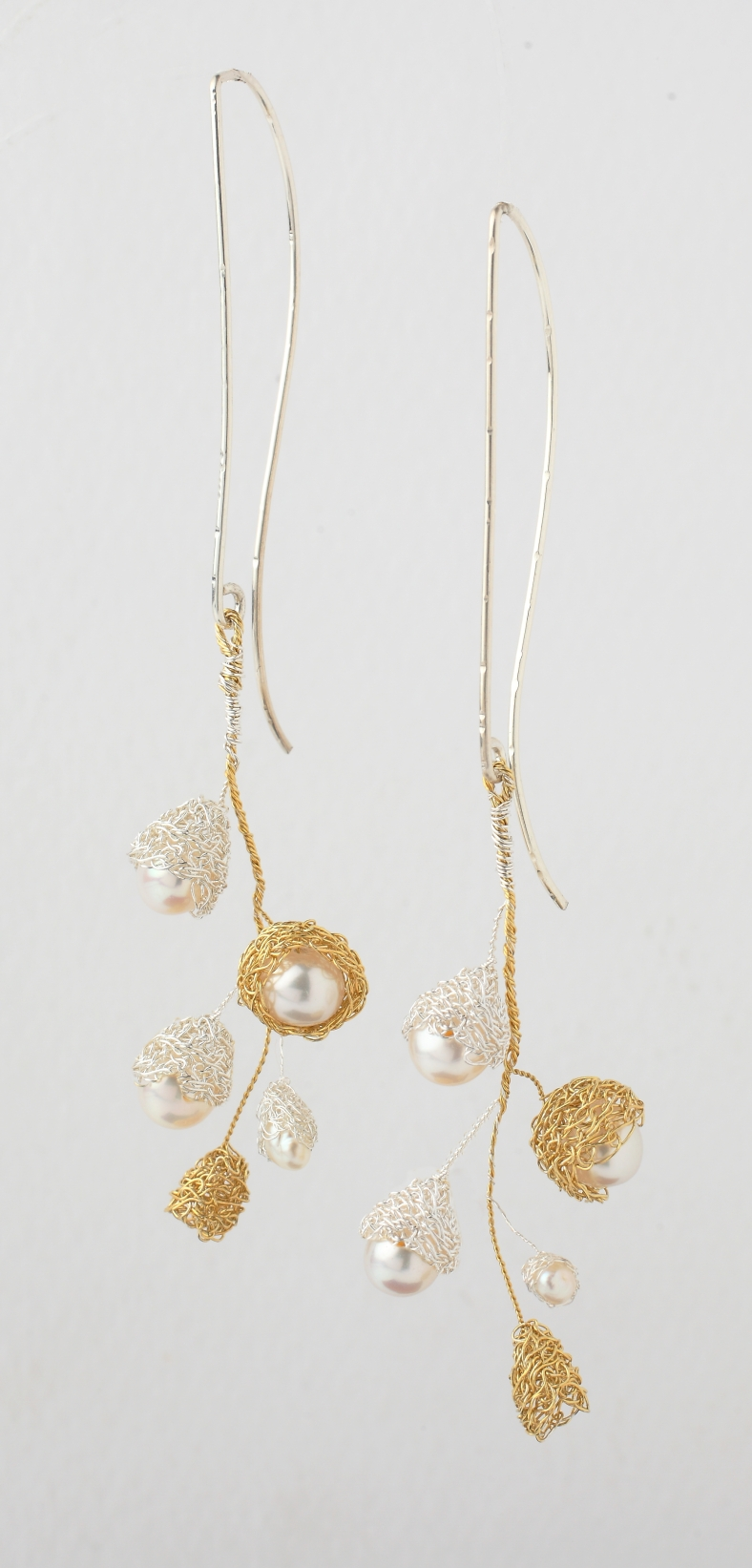 Baya 5 bud long drop earrings