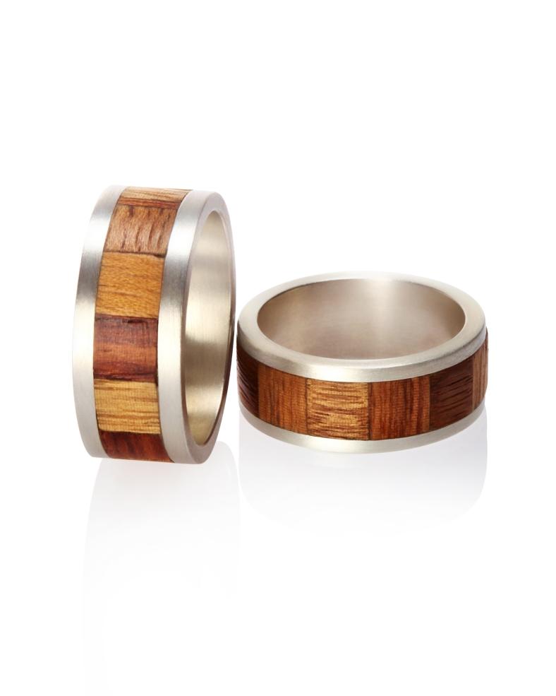 Rings, silver and veneer - Laura Thomas