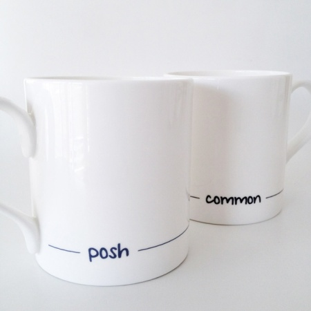 Posh and Common fine bone china mugs