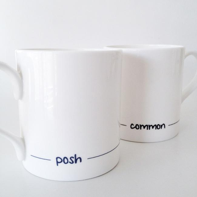Posh and Common fine bone china mugs