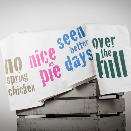 Vintage Sayings Collection of tea towels