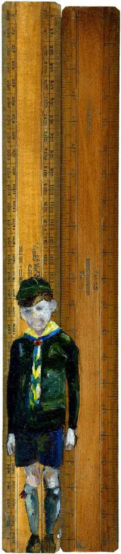 Oil on Vintage Rulers - Lindsay Madden