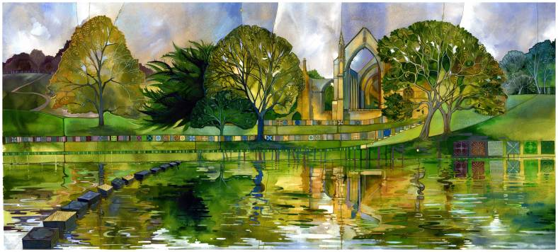 Bolton Abbey, limited edition print by Kate Lycett