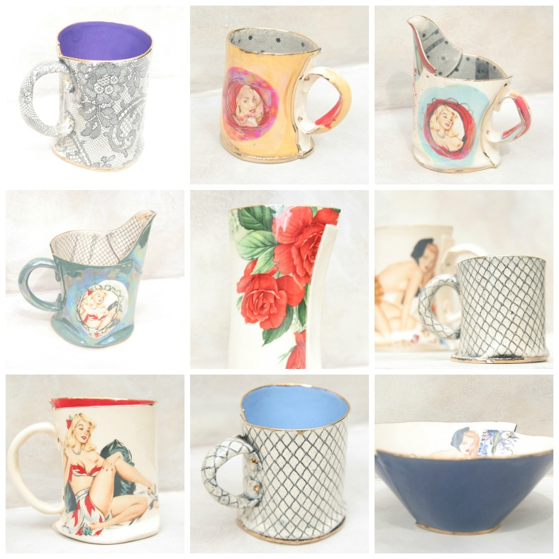 Ceramics with lustre and a hint of stocking from Vanessa Conyers