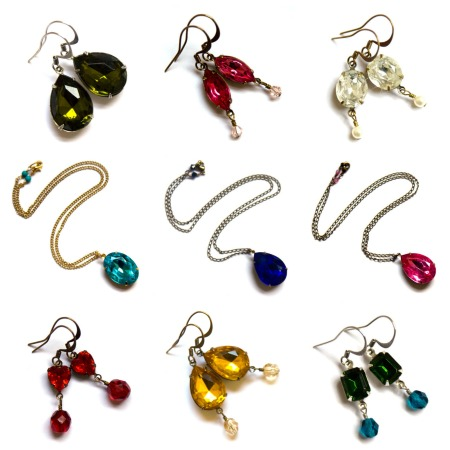 Glamourous and sparkly cut stone jewellery from Caroline Craig