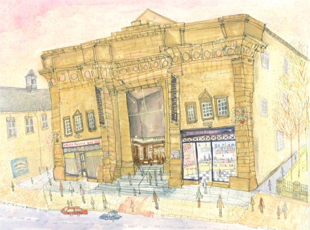 The Picture House, Hebden Bridge original by Clare Caulfield currently hanging in the home of two of our regulars who fell in love with this as they spend a lot of time at our traditional picture house here in Hebden bridge