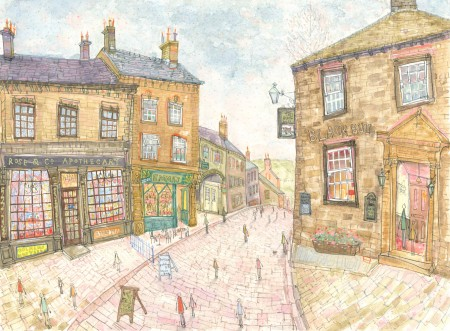 Top of Main Street original by Clare Caulfield heading to Wuthering Heights soon to an avid collector of original artwork
