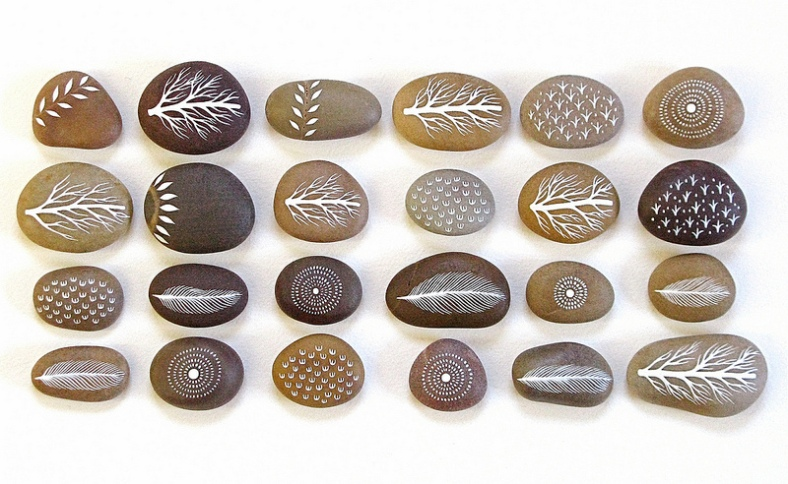 Painted Stones (sold in sets of 4)