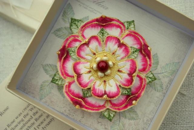 Embroidered Tudor Rose