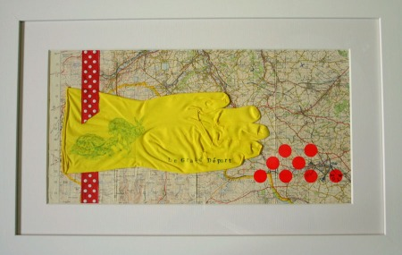 Printed Rubber Glove on Map