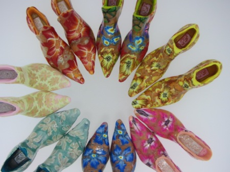 Selection of small shoes by Nikki Brown - bear in mind all these are no larger than 1.5cms!