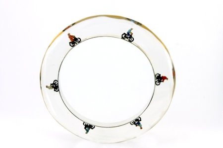 Resin bangle with cyclists