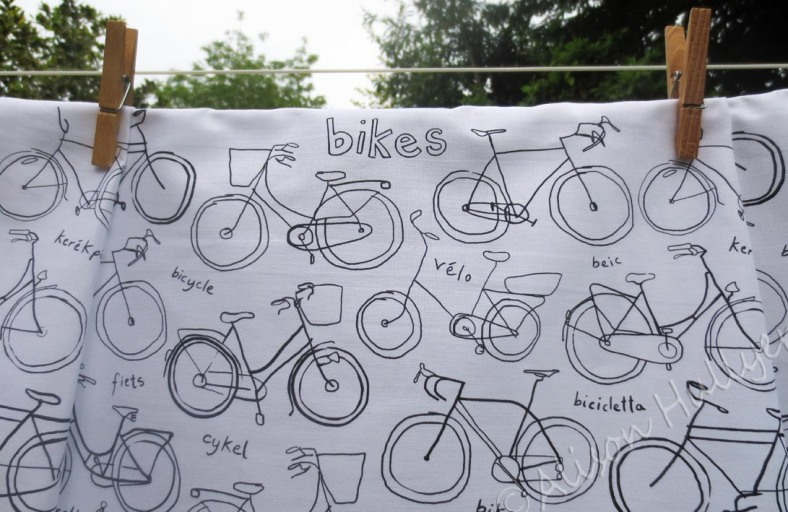 Bike tea towels at Heart Gallery by Alison Hullyer