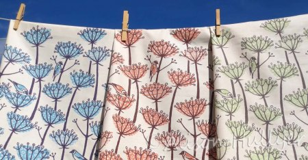 Seed Head tea towels by Alison Hullyer